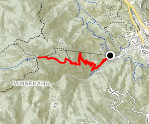 Barr Trail Day Hike Map
