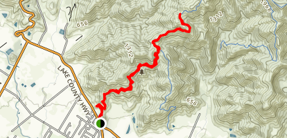 Bald Hill via Oat Mine Trail Map