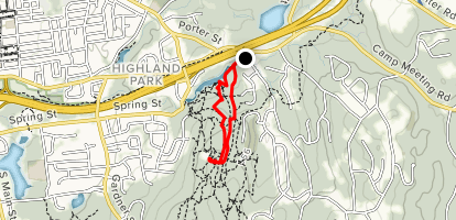 Lookout via White and Shenipsit Trail Loop Map