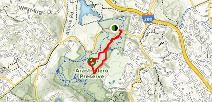 Arastradero Creek and Acorn Trail Loop Map