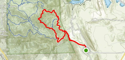 Belcher Hill, Whippletree, Longhorn and Shorthorn Trail Loop Map
