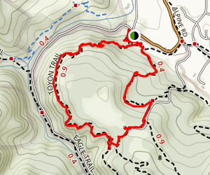 Toyon Trail and Fire Road Loop Map