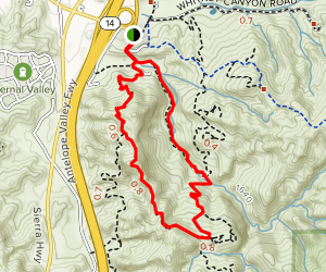 Elsmere Canyon Trail Loop Map