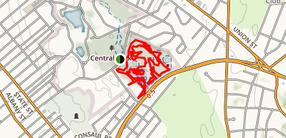 Central Park Mountain Bike Trail Loop Map