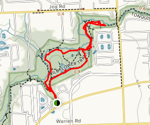 Holiday Nature Preserve (Newburgh-Wayne East Half) Map