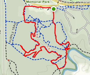 Purple and Yellow Trail Loop Map
