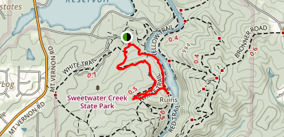 White and Red Trail Loop Map