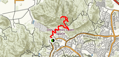 Conejo Mountain via Powerline Trail Map