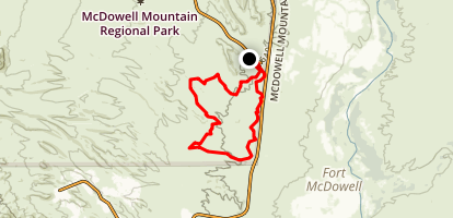 McDowell Mountain Long Loop Map