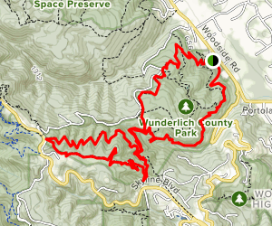 Bear Gulch, Skyline, and Alambique Loop Map