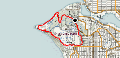 Discovery Park Extended Loop Trail Map