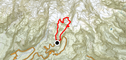 Skyline, Glacier Vista, Upper Skyline and Golden Gate Loop Map