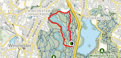 Reservoir Trail to Willow Spring Path Map