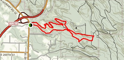 Holder Ridge, Road A, Road F and Whiskey Still Loop Map