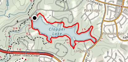 Clopper Lake Map