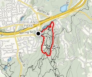 White and Pink Trail Loop Map
