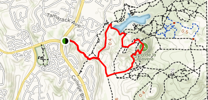 Calavera Lake and Cerro de la Calavera Loop Map
