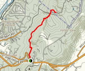Raven Rocks via Appalachian Trail Map