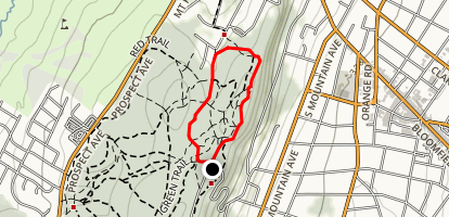Lenape Trail (Yellow) and Red Trail Loop Map