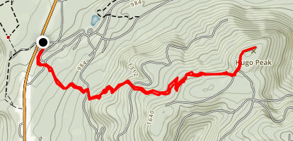 Hugo Peak Trail Map