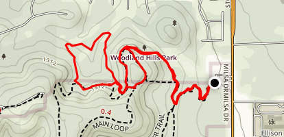Bosque, Vern Del, Juniper Ridge and Main Trails Loop Map