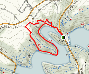 2A to 2C Loop Trail Map