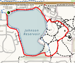 Johnson Reservoir and Clement Park Loop Map