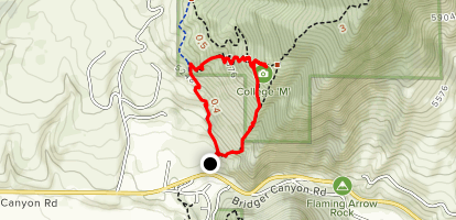 M Shortcut Trail Map