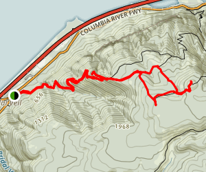 Devils Rest and Foxglove Way East Loop via Angels Rest Trail (CLOSED) Map