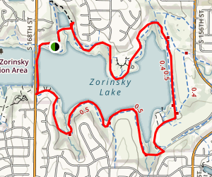 Zorinski Lake East Loop Map
