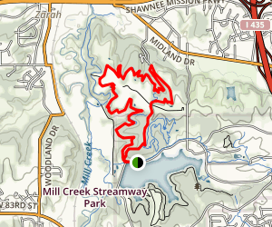 Shawnee Mission Park Red Trail Map