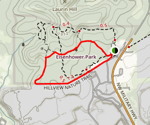 Ceder Flats and Hillview Nature Trail Loop Map