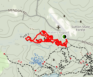 Sutton State Forest Loop Map