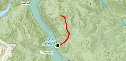 Ben Lomond Mountain Path Map