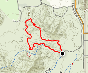 Rainbow Valley Trail to Baseline Trail Loop Map