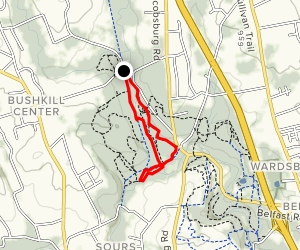 Jacobsburg State Park Red/Green Loop Map