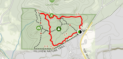 Yucca and Hillview Nature Trail Loop North Map