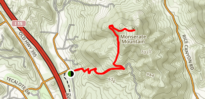 Monserate Mountain Trail Map