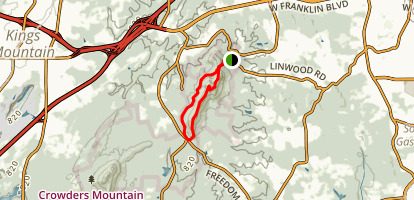 Rocktop Trail to Crowder's Trail Loop Map