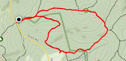 Lenape Trail to Mill Creek Trail Loop Map