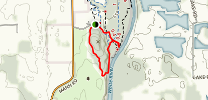 Man Hill and White River Loop Map