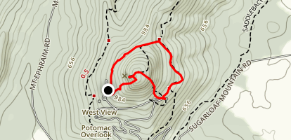 Northern Peaks, Mountain Loop and A.M. Thomas Trail Map