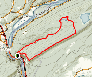 Sunfish Pond via Red Dot, Turquoise and Mt. Tammany Fire Road Loop Map