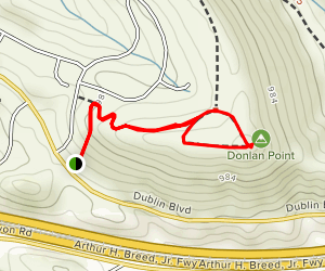 Donlan Point via Calaveras Ridge Regional Trail Map