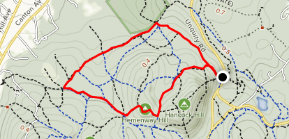 Breakneck Ledge and Chestnut Run Loop Map