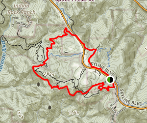 Castle Rocks Lower Loop Map