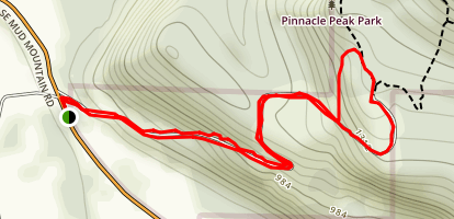 Back of Pinnacle Peak Map