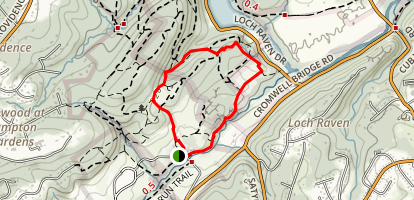 Loch Raven Drive Trail and Meadow Trail Loop Map