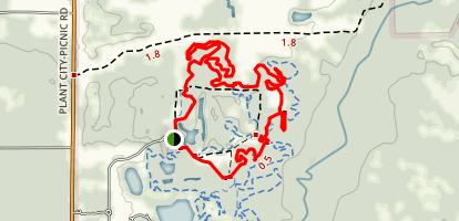 San Pine and Rock Garden Loop Map