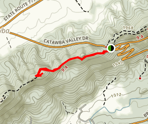 Sawtooth Ridge via Appalachian Trail Map
